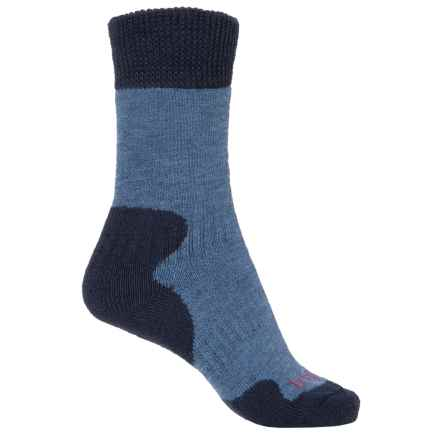 Bridgedale MerinoFusion® Summit Socks - Crew (For Women) in Storm Blue - 2nds
