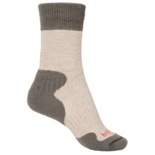 Bridgedale MerinoFusion® Summit Socks - Crew (For Women) in Tan/Grey - 2nds