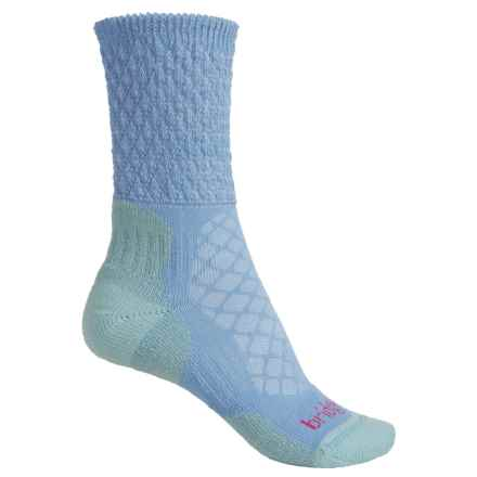 Bridgedale MerinoFusion Trail Hiking Socks - Crew (For Women) in Blue/Teal - 2nds