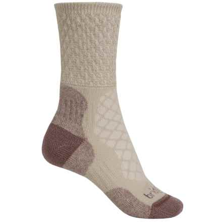 Bridgedale MerinoFusion Trail Hiking Socks - Crew (For Women) in Sand - 2nds