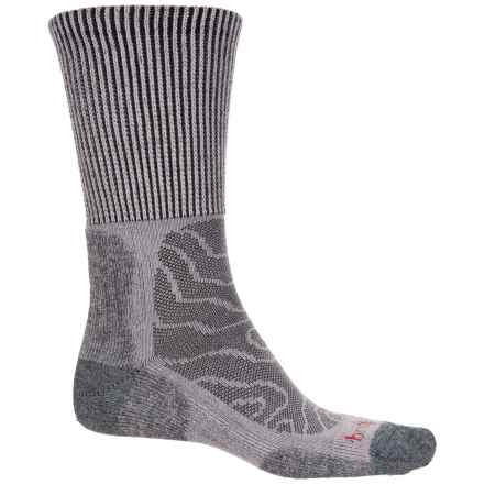 Bridgedale MerinoFusion Trail Socks - Crew (For Men and Women) in Grey - Closeouts