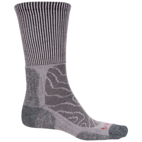 Bridgedale MerinoFusion Trail Socks - Crew (For Men and Women) in Grey