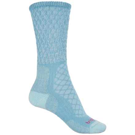 Bridgedale MerinoFusion Trail Socks - Crew (For Women) in Powder Blue - Closeouts