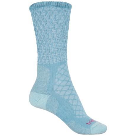 Bridgedale MerinoFusion Trail Socks - Crew (For Women) in Powder Blue