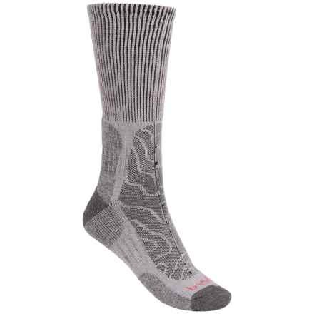 Bridgedale MerinoFusion Trail Socks - Merino Wool, Crew (For Men) in Grey/Dark Grey - 2nds