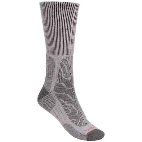 Bridgedale MerinoFusion Trail Socks - Merino Wool, Crew (For Men) in Grey/Dark Grey