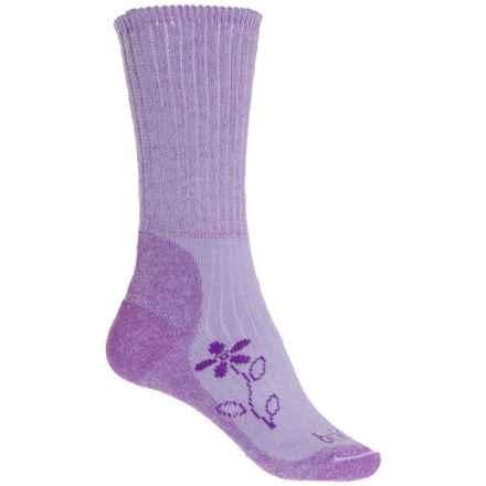 Bridgedale MerinoFusion Trekker Boot Socks - Merino Wool, Crew (For Women) in Violet - 2nds