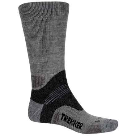 Bridgedale MerinoFusion Trekker Socks - Crew (For Men) in Grey/Dark Grey - Closeouts