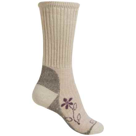 Bridgedale MerinoFusion® Trekker Socks - Merino Wool, Crew (For Women) in Natural - 2nds