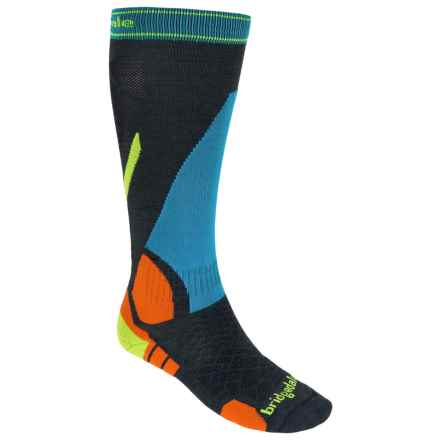 Bridgedale MerinoFusion Vertige Socks - Merino Wool, Mid Calf (For Men) in Gunmetal/Multi - 2nds