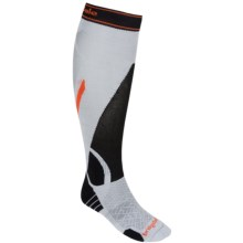 Bridgedale MerinoFusion Vertige Socks - Merino Wool, Mid-Calf (For Men) in Silver/Black - 2nds