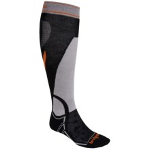 Bridgedale MerinoFusion Vertige Socks - Merino Wool, Mid Calf (For Women) in Black/Silver - Closeouts