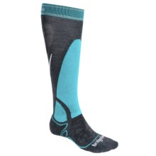 Bridgedale MerinoFusion Vertige Socks - Midweight, Merino Wool, Mid-Calf (For Women) in Gunmetal/Blue - Closeouts