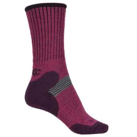 Bridgedale MerinoFusion XC Classic Ski Socks - Merino Wool, 3/4 Crew (For Women) in Berry/Plum - 2nds