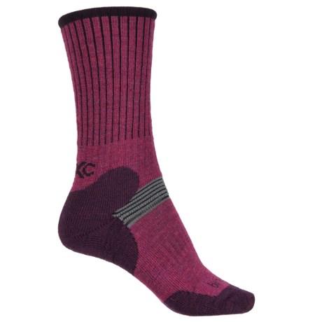 Bridgedale MerinoFusion XC Classic Ski Socks - Merino Wool, 3/4 Crew (For Women) in Berry/Plum