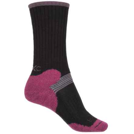 Bridgedale MerinoFusion XC Classic Ski Socks - Merino Wool, 3/4 Crew (For Women) in Black/Plum - 2nds