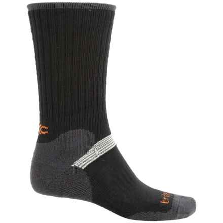 Bridgedale MerinoFusion XC Classic Ski Socks - Merino Wool, Crew (For Men) in Black/Charcoal - 2nds