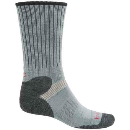 Bridgedale MerinoFusion XC Classic Ski Socks - Merino Wool, Crew (For Men) in Grey/Charcoal - 2nds