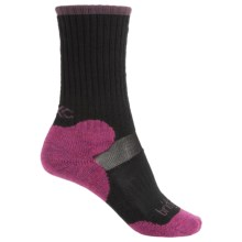 Bridgedale MerinoFusion XC Classic Ski Socks - New Wool, Merino Wool, 3/4 Crew (For Women) in Black/Fuchsia - 2nds