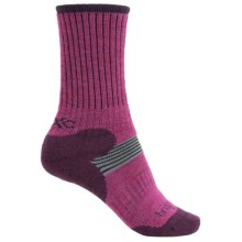 Bridgedale MerinoFusion XC Classic Ski Socks - New Wool, Merino Wool, 3/4 Crew (For Women) in Fuchsia/Berry - 2nds