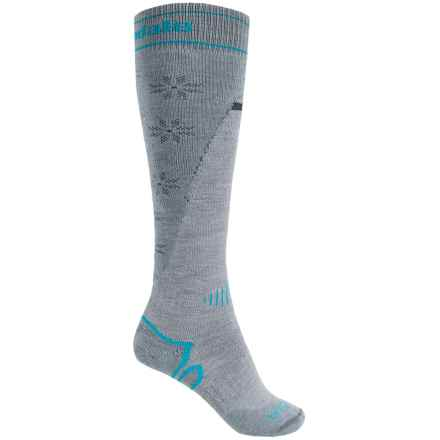Bridgedale Mountain Ski Socks - Merino Wool, Over the Calf (For Women) in Grey/Light Steel - 2nds