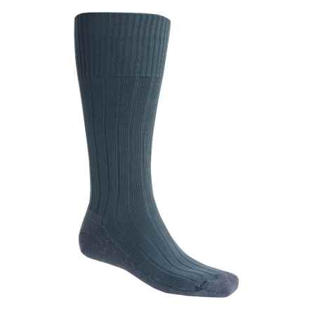 Bridgedale Pathfinder Socks - Nylon-Wool, Over the Calf (For Men and Women) in Blue Grey - 2nds