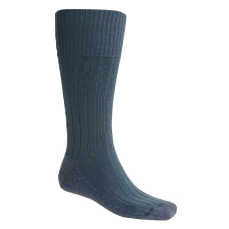 Bridgedale Pathfinder Socks - Nylon-Wool, Over the Calf (For Men and Women) in Blue Grey