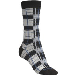 Bridgedale Plaid Socks - Rayon, Crew (For Women) in Black/Pink Plaid