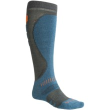 Bridgedale Precision Heel Fit Ski Socks - Merino Wool, Midweight (For Men) in Gunmetal/Midnight - 2nds