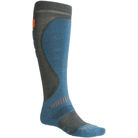 Bridgedale Precision Heel Fit Ski Socks - Merino Wool, Midweight (For Men) in Gunmetal/Midnight