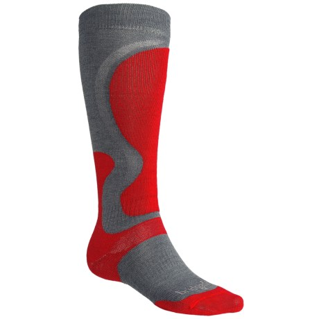 Bridgedale Precision Ski Socks - Merino Wool (For Men) in Gunmetal/Poppy