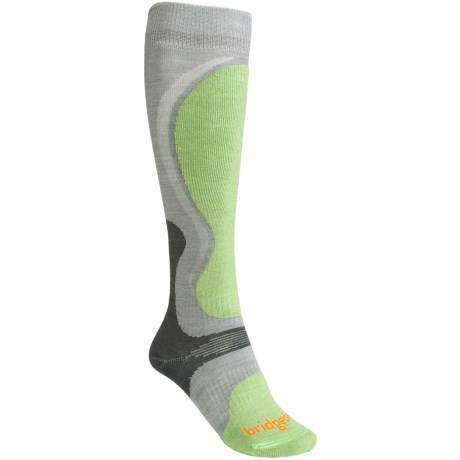 Bridgedale Precision Ski Socks - Merino Wool (For Women) in Spring Green