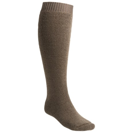 Bridgedale Premium Explorer Wool Hiking Knee Socks (For Men and Women) in Stone