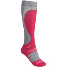 Bridgedale Snowboard Socks - Merino Wool (For Women) in Dove/Raspberry - 2nds