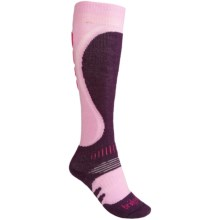 Bridgedale Snowboard Socks - Merino Wool (For Women) in Pink/Plum - 2nds