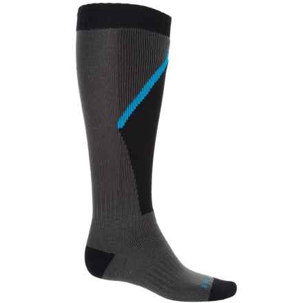 Bridgedale Snowsport Socks - Over the Calf (For Men) in Gunmetal/Black - Closeouts