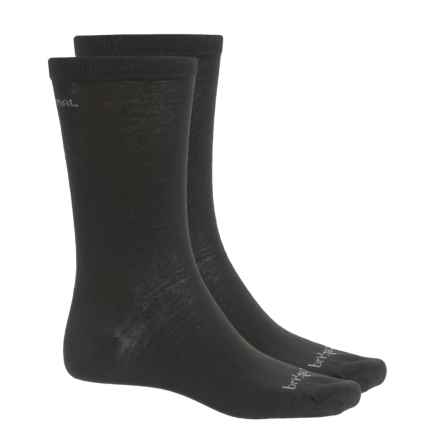 Bridgedale Thermal Liner Socks - 2-Pack (For Men and Women) in Black - Closeouts