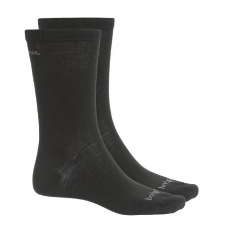 Bridgedale Thermal Liner Socks - 2-Pack (For Men and Women) in Black