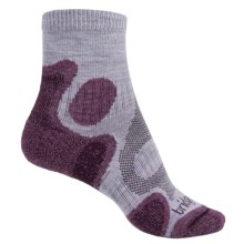 Bridgedale Trail Diva CoolFusion® Socks - Merino Wool, Quarter Crew (For Women) in Heather/Damson - 2nds