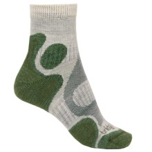 Bridgedale Trail Diva CoolFusion® Socks - Merino Wool, Quarter Crew (For Women) in Stone/Sage - 2nds