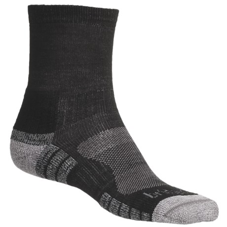 Bridgedale Trail Light Socks (For Men and Women) in Black / Grey