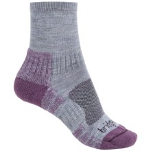 Bridgedale Trail Light Socks - New Wool, Ankle (For Women) in Heather/Damson - Closeouts