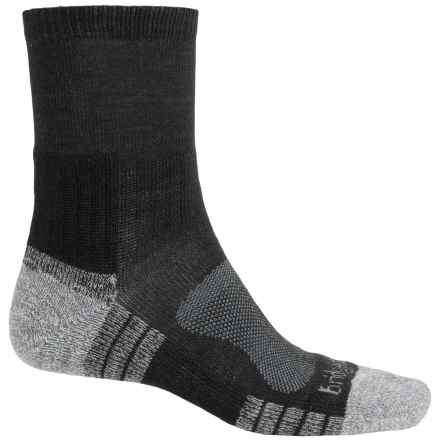 Bridgedale Trail Light Socks - New Wool, Quarter Crew (For Men) in Black/Silver - Closeouts