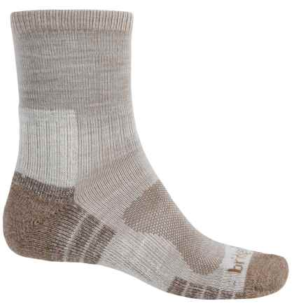 Bridgedale Trail Light Socks - New Wool, Quarter Crew (For Men) in Chino - Closeouts
