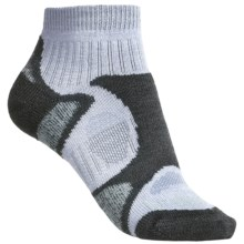 Bridgedale Trailblaze Lo Socks - Merino Wool, Ankle, Midweight (For Women) in Grey/Jade - 2nds