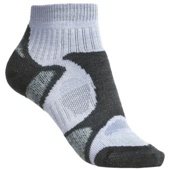 Bridgedale Trailblaze Lo Socks - Merino Wool, Ankle, Midweight (For Women) in Grey/Jade