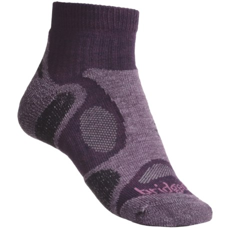 Bridgedale Trailblaze Lo Socks - Merino Wool, Ankle, Midweight (For Women) in Plum