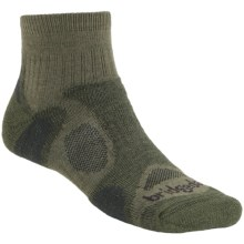 Bridgedale Trailblaze Lo Socks - Merino Wool, Quarter-Crew (For Men) in Olive - 2nds
