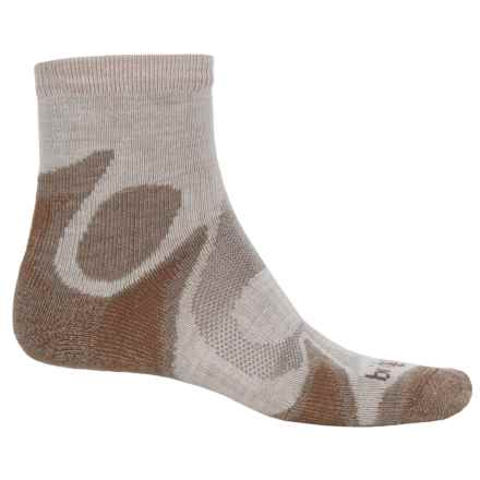 Bridgedale Trailhead CoolFusion® Socks - Merino Wool, Quarter Crew (For Men) in Chino/Sand - Closeouts