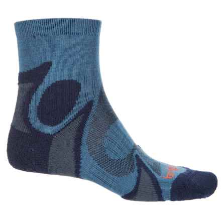Bridgedale Trailhead CoolFusion® Socks - Merino Wool, Quarter Crew (For Men) in Storm/Navy - Closeouts